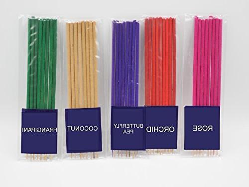 Thai Incense 10 100% Jasmin DokMoke Sandalwood Ocean Rose Fangipani Coconut Fee shipping