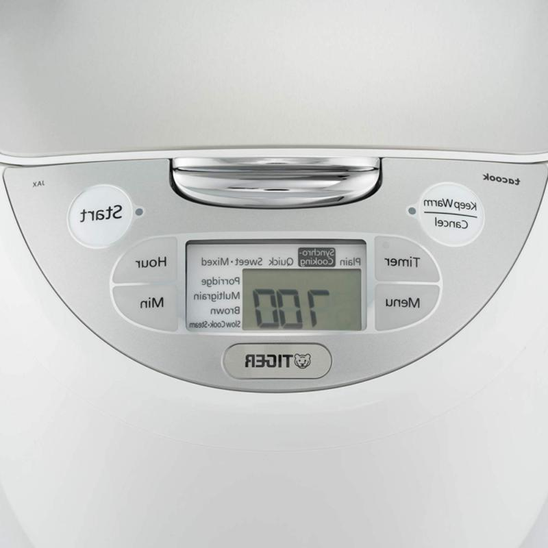 Tiger JAX-S10U-WY 5.5-Cup Rice Cooker & Steamer, and Sl