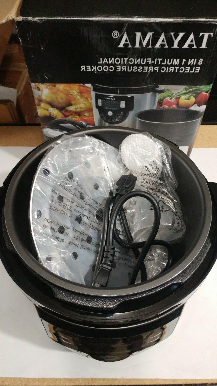 Tayama 8 in Function Pressure Cooker, Qt, Black