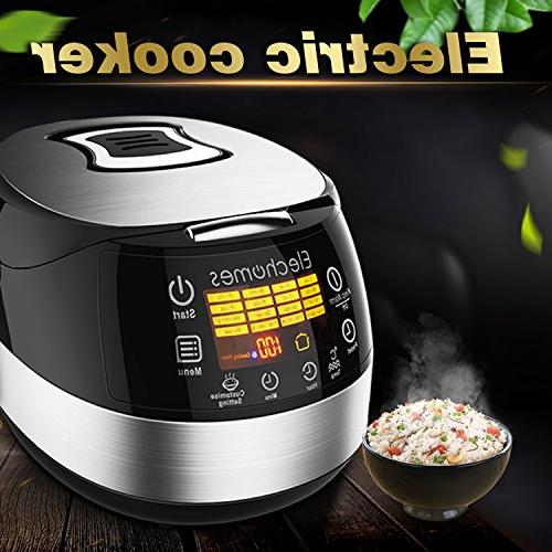 Elechomes LED Rice Cooker, Multi-function Cooker, 10-Cups Cooker Steam Rinse