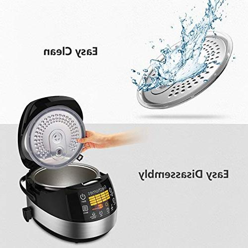 Elechomes LED Rice Cooker, Multi-function Cooker, Cooker with Steam Rinse CR502