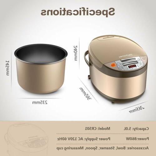 US Rice Smart Slow Steamer&Rinse Basket Liters