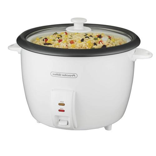 White-Proctor 37551 WHT Silex Arrocera 30 Cup Rice Cooker-Ac