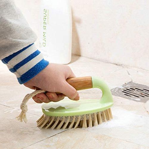 Feccile Wooden Bath Family Purpose Hand Scrub Plates Shower Brush Tools