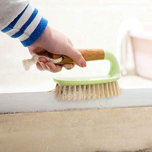 Feccile Handle Bathroom Bath Scrubbing Bristle Comfort Grip Wall Family Hand Kitchen Scrub Brush Tools