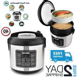 Large Rice Slow Cooker Big Electric Vegetable Food Steamer C