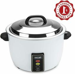 Large White Commercial Fluffy Rice Cooker Non-stick Removabl