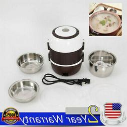 Layered/Divided Lunch Box Portable Rice Cooker Steamer Stain