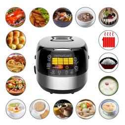 Elechomes LED Touch Control Electric Rice Cooker Cups Uncook