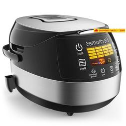 Elechomes Led Touch Control Rice Cooker, 16-In-1 Multi-Funct