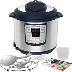 Instant Pot Lux 6 Qt Blue 6-in-1 Muti-Use Programmable Press