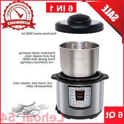Instant Pot LUX60V3 6 Qt 6-in-1 Multi-Use Programmable Press
