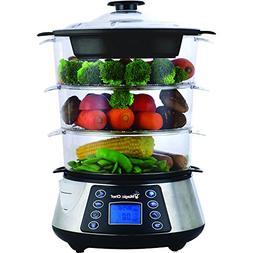 Magic Chef MCSFS12ST 3 Tier Food Steamer, 9.4X 15.4 X16.1, S