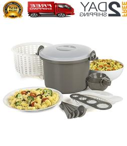 Microwave Rice Cooker and Pasta Cooker 17 Piece Set, BPA Fre