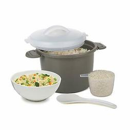 Microwave Rice Cooker BPA free and Dishwasher Safe 4 Piece G