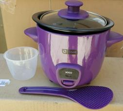 DASH 2 PIECE MINI RICE COOKER DRCM100PU PURPLE COLOR.