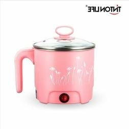 2.3L, without Steamer MINGPINHUIUS 4-in-1 Multifunction Electric Skillet Wok Rice Cooker Steamer Small Nonstick with Lid