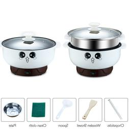 Multifunction Electric Skillet Wok Rice Cooker Steamer Small