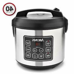 New - Aroma Housewares 20 Cup Cooked  Digital Rice Cooker
