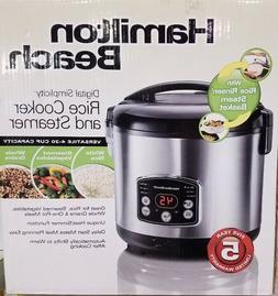 New Hamilton Beach 20-Cup Digital Rice Cooker/Steamer 37541