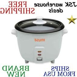 *New* IMUSA 3-Cup Nonstick Bowl ELECTRIC RICE COOKER w Rice