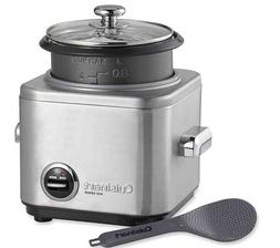 New Cuisinart 4-Cup Stainless Steel Rice Cooker LED indicato