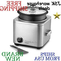 New CUISINART 8-Cup RICE COOKER Nonstick Removable Parts Dis