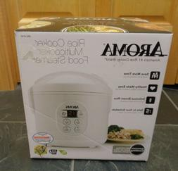 NEW Aroma Rice Cooker Multicooker Food Steamer ARC914D White