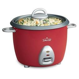 New Rival RC61 6-cup Rice Cooker w/Steamer, Red by Love Gree