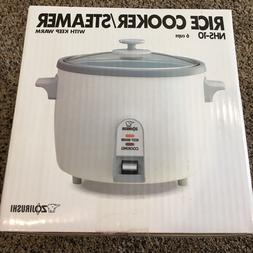 Zojirushi NHS-10 6-Cup Uncooked Rice Cooker/Steamer; Warmer,