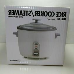 Zojirushi NHS-10 6-Cup  Rice Cooker Steamer Warmer Brand New