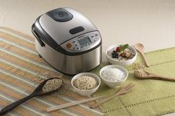 Zojirushi NS-LGC05 Rice Cooker & Warmer, Stainless Black