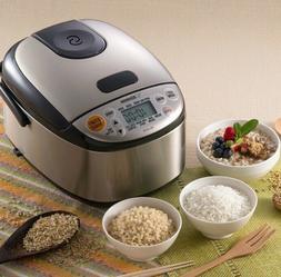 Zojirushi NS-LGC05XB Micom Rice Cooker  Warmer, Stainless Bl