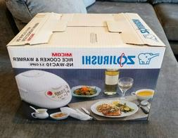 Zojirushi NS-WAC10 5.5 Cup Micom Rice Cooker and Warmer- Bra