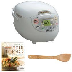 Zojirushi NS-ZCC10 Neuro Fuzzy Rice Cooker & Warmer  Bundle