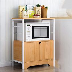 PENGFEI Kitchen Microwave Shelf Oven Rack Floor Standing Ric