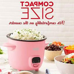 Pink Small Mini Rice Cooker Steamer with Removable Nonstick