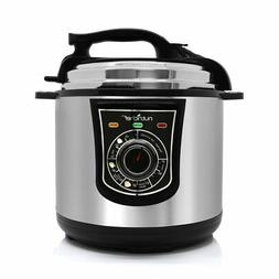 NutriChef PKPRC15 Electronic Pressure Cooker, Silver by Nutr