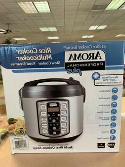 Aroma Professional Plus Rice Cooker Multicooker 4 Quart, Slo