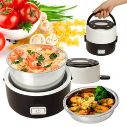 Portable 2 Layer Electric Lunch Box Steamer Pot Rice Cooker