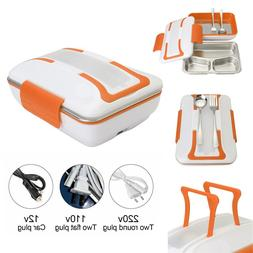 Portable Car Truck Electric Heating Lunch Box Travel Food Wa