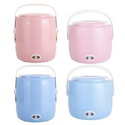 Portable Electric Heating Lunch Box 2L Rice Cooker Steamer W