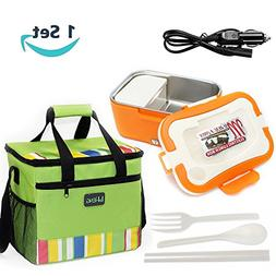 12V Car Use Electric Heating Lunch Box , Portable Removable