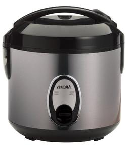 Aroma Pot-Style Rice Cooker and Food Steamer, 4-Cup, Silver