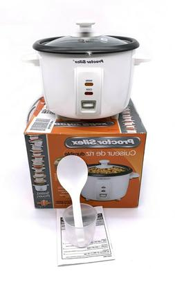 Proctor Silex White 8 Cup  Durable Rice Cooker 37534 White