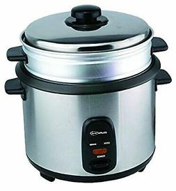 Saachi Electric 5-Cup Non-stick Rice Cooker with Vegetable F