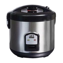 Elite Platinum Rice Cooker 20 Cup 5Qt Non Stick Removable Po