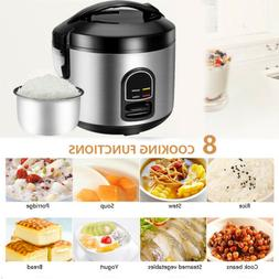 Rice Cooker 5-Cup Steamer Cooking Pot Non Stick Electric Kee