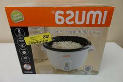 IMUSA Rice Cooker - 500 W - 16 fl oz - Black, White