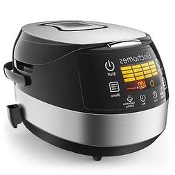 Elechomes Rice Cooker and Food Warmer Steamer, 5 Liter/10-Cu
